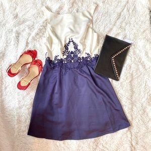 NIKIBIKI Blue/ White Cocktail Dress M